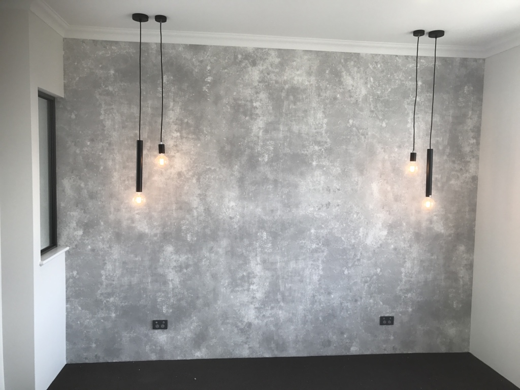 Concrete Bedroom by Mr Wallpaper